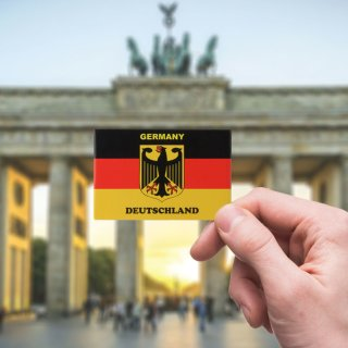 Magnet Germany flag with eagle