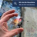 Kühlschrank-Magnet ORIGINAL Berliner Mauer-Stein mit Echtheitszertifikat