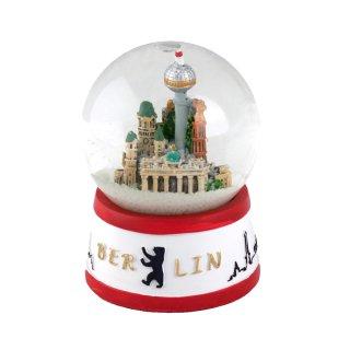 Snow globe Berlin red white