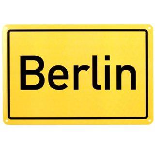 metal sign place-name sign Berlin, 20x30 cm
