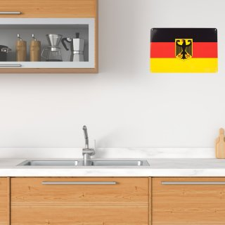 tin plate Germany flag eagle, 20x30 cm