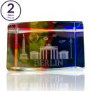 Set of 2 3D paperweights with BERLIN laser engraving,...