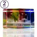 2er Set 3D Briefbeschwerer mit BERLIN Lasergravur, bunt,...