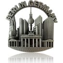 Metal Magnet BERLIN Germany, silver