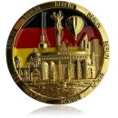 Metal magnet BERLIN round, gold