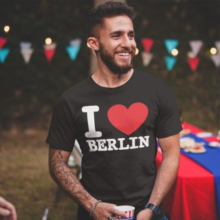 T-Shirt I LOVE BERLIN Classic, black