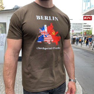 T-Shirt Berlin Checkpoint Charlie, brown