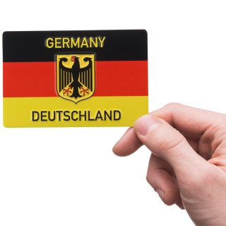 Magnet German flag with eagle