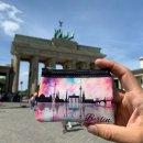 Berlin Mini-Etui | Kleine Schminktasche mit Reißverschluss & Schlüsselring | Skyline | Souvenir