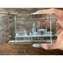 Set of 2 3D paperweights with BERLIN laser engraving