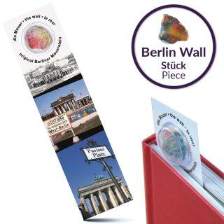 Lesezeichen mit original Berliner Mauer