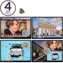 Postkarten 4er Set mit original Berliner Mauer-Stein