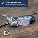 Keychain with Berlin Wall stone