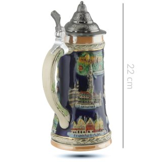 Beer mug Germany with lid