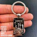 Schlüsselanhänger Berlin Souvenirs, Geschenk Metall Rechteck