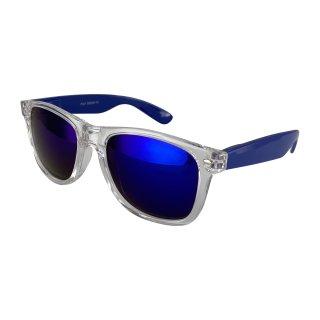 Clear: transparent dark blue / blue
