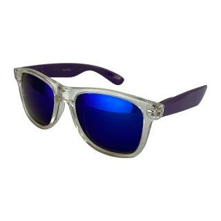 Clear: transparent dark purple / blue