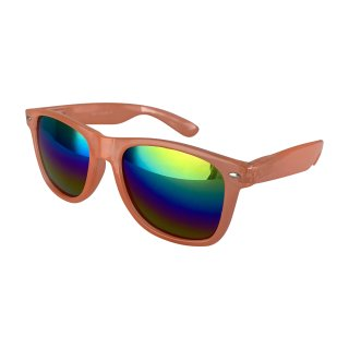 Clear: Transparent Orange / Rainbow